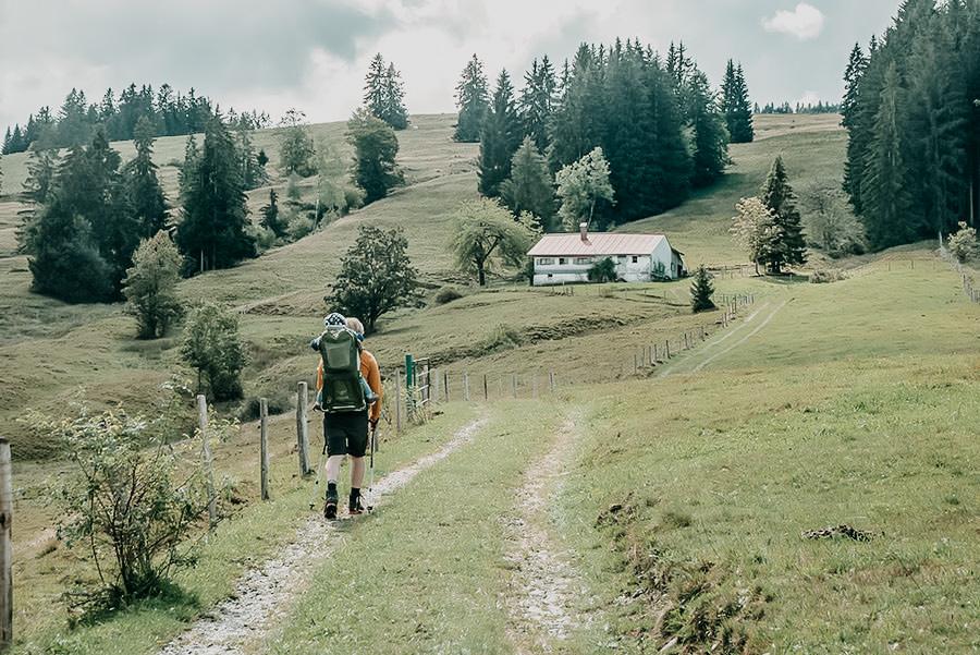 Alpsee wandern - 5 Genusswanderungen am Alpsee im Allgaeu - Salmaser und Thaler Hoehe