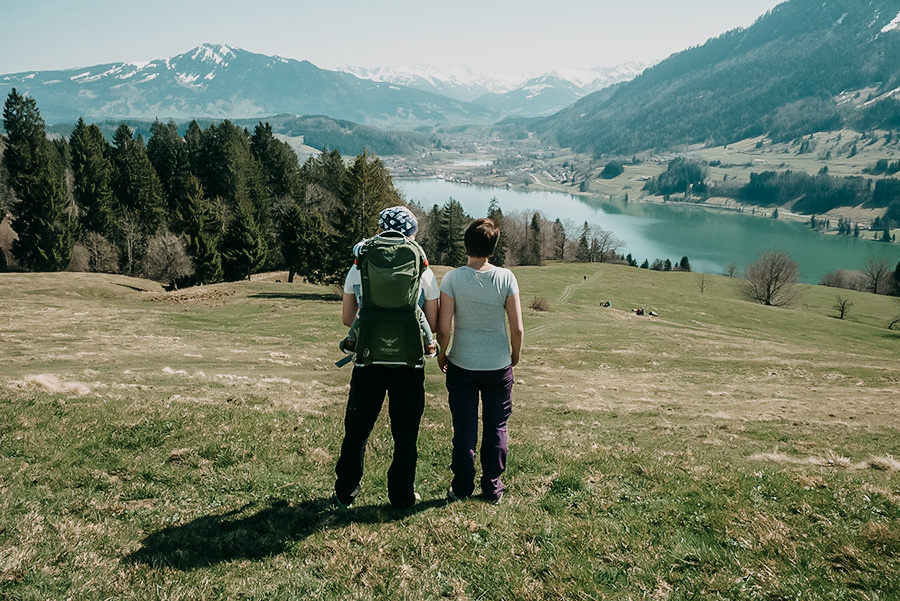 Alpsee wandern - 5 Genusswanderungen am Alpsee im Allgaeu - Siedelalpe