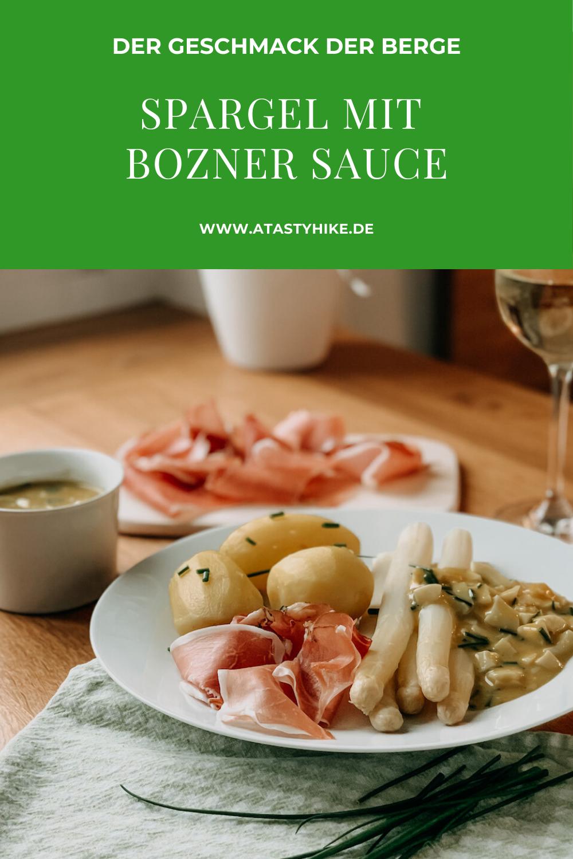 Spargel Rezepte gibt es wie Sand am Meer. Wir teilen heute ein Südtiroler Spargelrezept mit Original Bozner Sauce mit dir. Bozner Sauce ist eine der besten Spargelsaucen, die wir kennen. Hol dir mit unserem Rezept den Geschmack der Berge nach Hause. Willst du wissen, wie du das Gericht zubereitest? Dann schau unbedingt auf unserem Blog vorbei! #ATastyHike #Spargelsauce #Spargelrezept #BoznerSauce #Hüttenessen