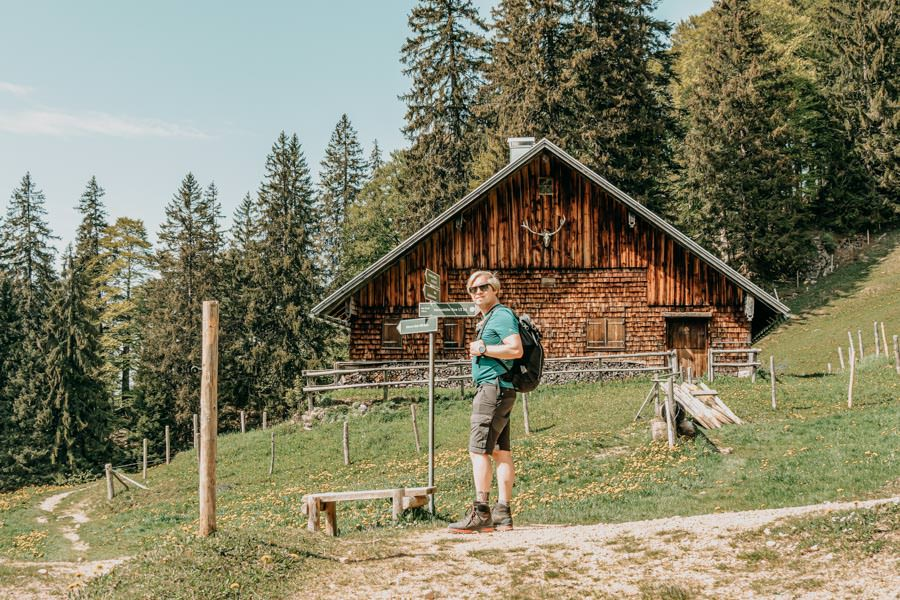 Immenstadt Wandern – Gschwendner Horn – Christian mit Huette