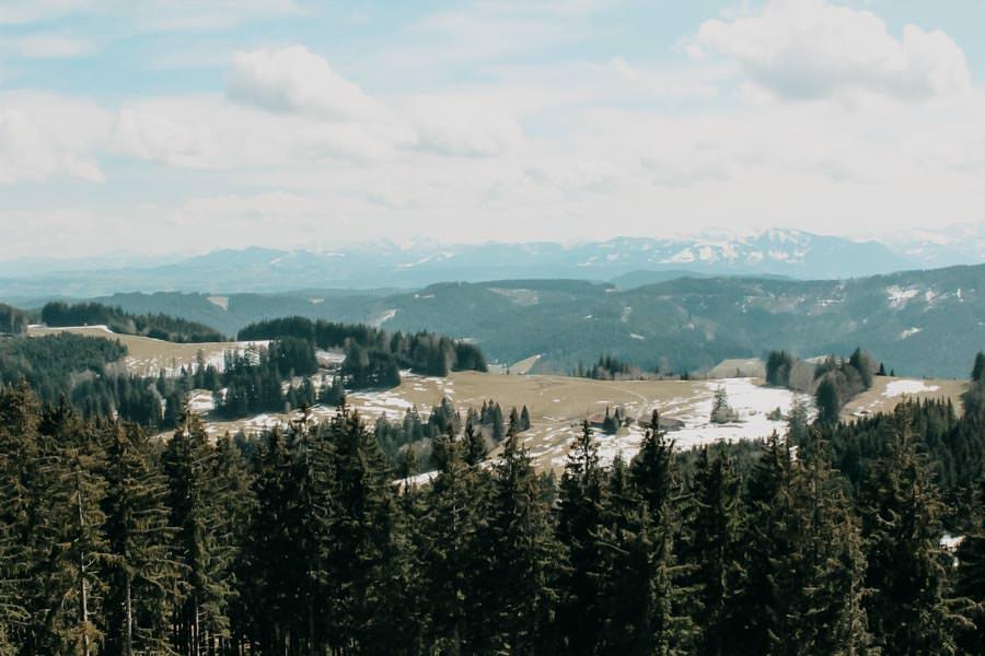 Schwarzer Grat Wanderung Aussicht vom Turm