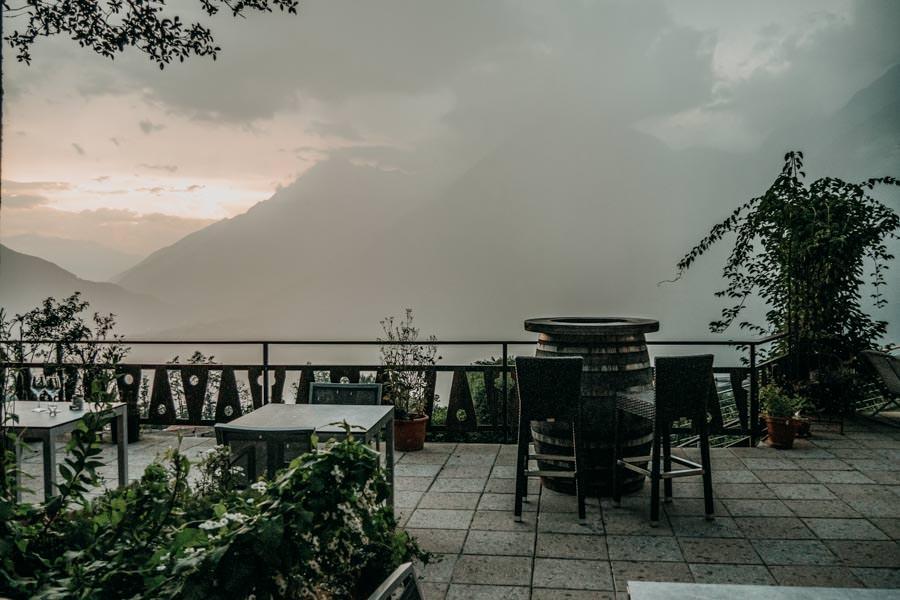 Pension Schenna – Pension Hahnenkamm – Ferienwohnung Terrasse