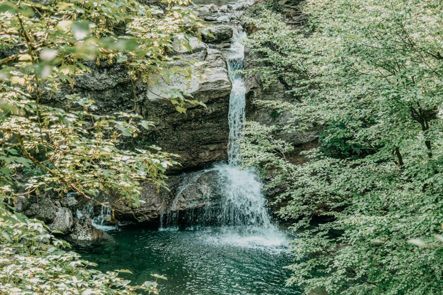 Rangiswanger Horn durch den Ostertal Tobel im Allgeau – Wasserfall