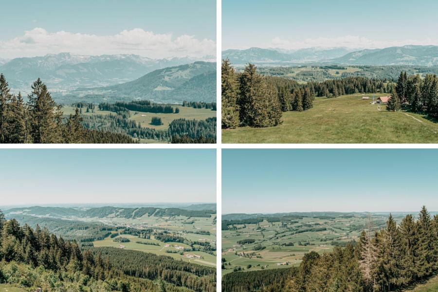 Wanderung Hauchenberg mit Alpkoenigblick im Allgaeu – Aussicht Uebersicht