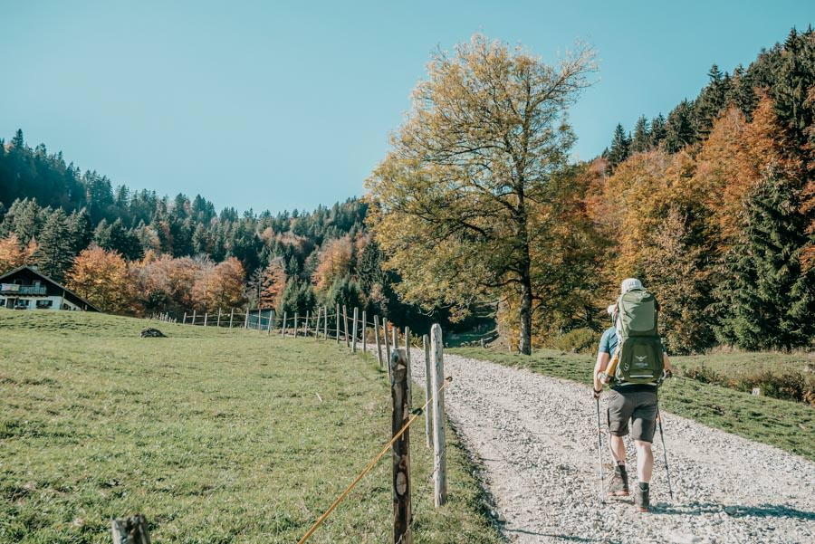 Wanderung Sennalpe Derb bei und Oberberg im Allgaeu – Aufstieg