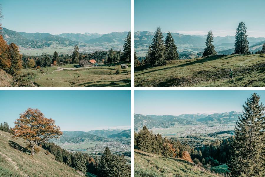 Wanderung Sennalpe Derb bei und Oberberg im Allgaeu – Aussicht Sennalpe Oberberg