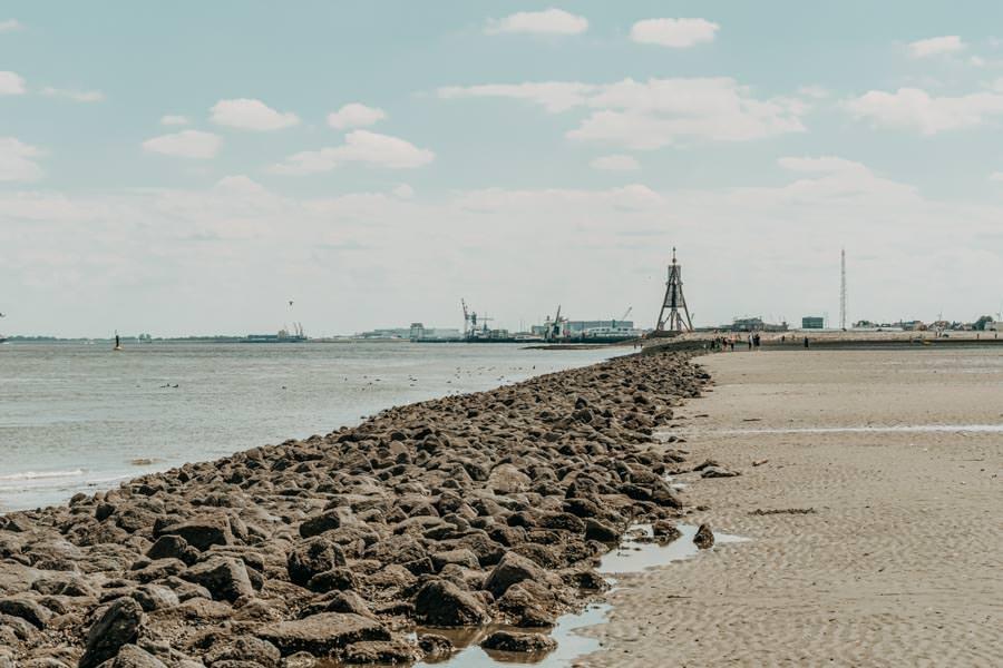 Wattwandern Cuxhaven zur Kugelbake - Elbe und Watt