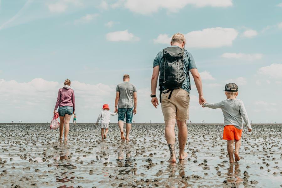 Wattwandern Cuxhaven zur Kugelbake - Wandergruppe