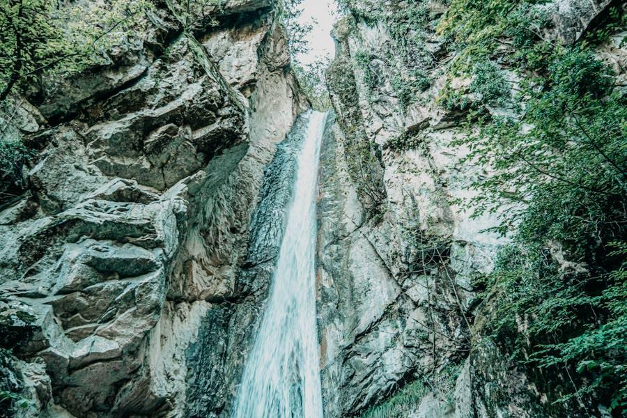 Rastenbachklamm Suedtirol bei Kaltern Wanderung 17