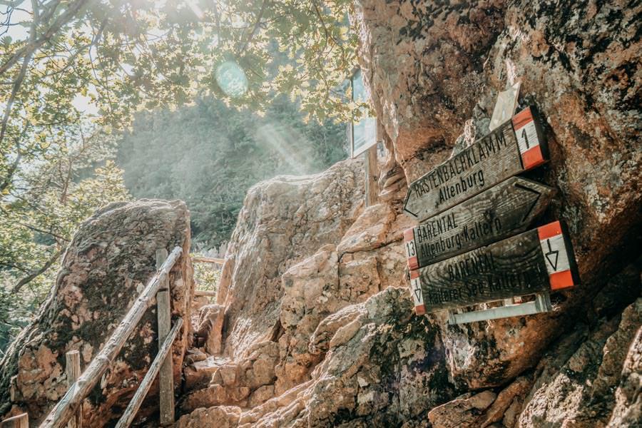 Rastenbachklamm Suedtirol bei Kaltern Wanderung 21